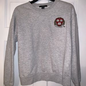 Forever 21 Grey Crewneck with Harvard Logo